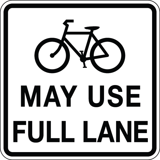 Bicycles May Use Full Lane Signs – Florida Bicycle Law