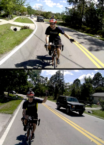 """Control & release"" is a cooperative technique used by savvy cyclists to discourage unwise/unsafe passing."